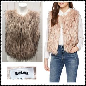BB DAKOTA Faux Fur Vest Sz Medium NEW